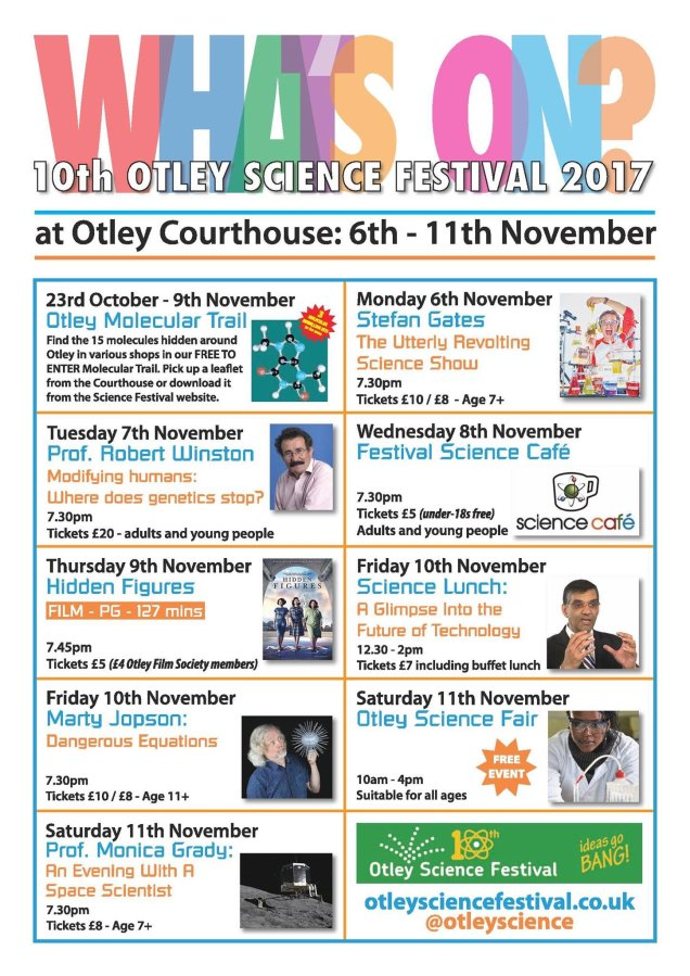 2017 Science Festival week what's on