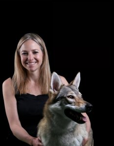 Alice Roberts with dog