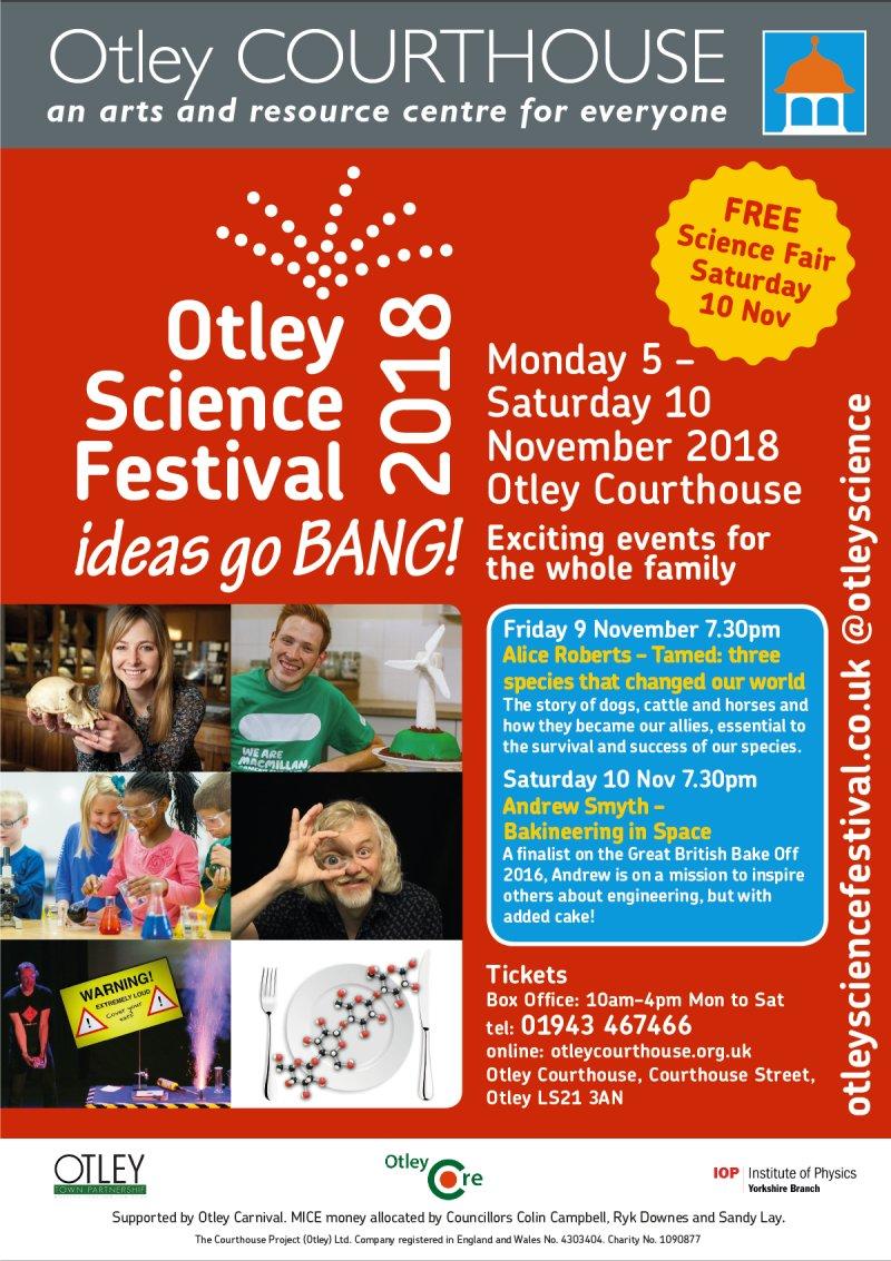 Science Festival 2018 poster