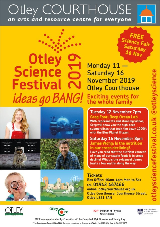 Otley Science Festival 2019 poster
