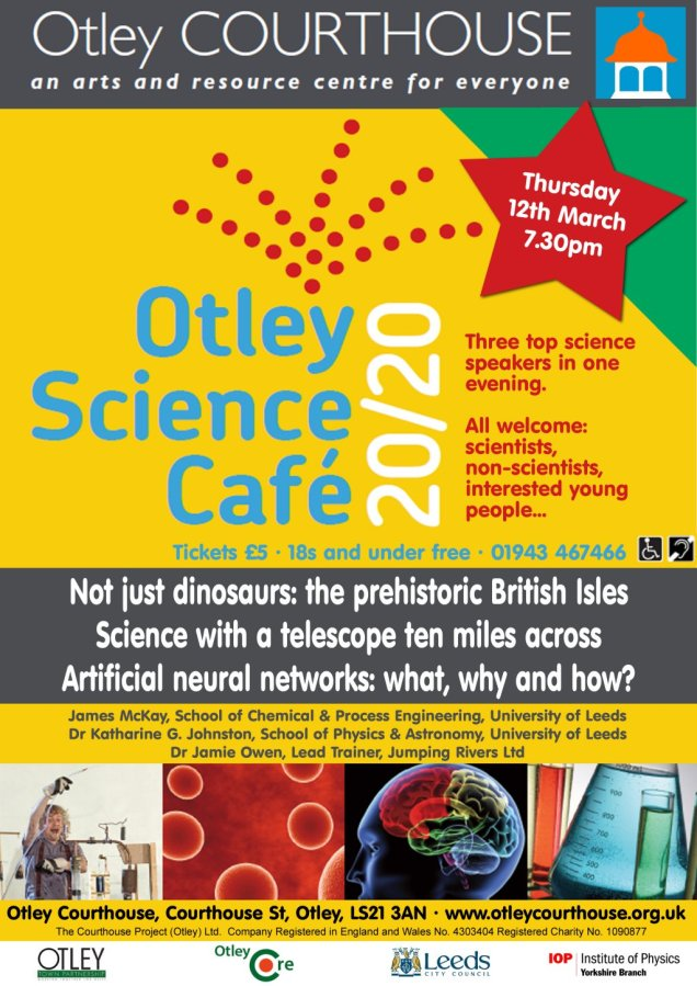Otley Science Café March 2020 poster